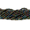 Seed bead, Preciosa® Czech glass, iris olive, #11 round. Sold per pkg of 1 hank.