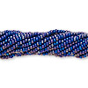 Seed bead, Preciosa® Czech glass, opaque cobalt blue rainbow, #11 round. Sold per 1/2 kilogram pkg.