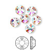 Sew-on component, Swarovski crystal, crystal AB, 8mm flat foil back Xilion (3204). Sold per pkg of 72.
