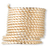 Wire, 12Kt gold-filled, half-hard, twisted square, 18 gauge. Sold per pkg of 5 feet.