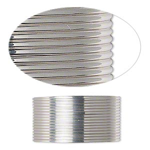 Wire, Beadalon®, stainless steel, 3/4 hard, half-round, 20 gauge. Sold per pkg of 9 meters.