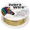 Wire, Zebra Wire™, brass, gold color, round, 22 gauge. Sold per 1/4 pound spool, approximately 45 yards.