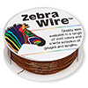 Wire, Zebra Wire™, color-coated copper, brown, round, 26 gauge. Sold per 1/4 pound spool, approximately 115 yards.