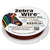 Wire, Zebra Wire™, color-coated copper, brown, round, 26 gauge. Sold per 30-yard spool.