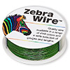 Wire, Zebra Wire™, color-coated copper, green, round, 26 gauge. Sold per 1/4 pound spool, approximately 115 yards.