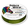 Wire, Zebra Wire™, color-coated copper, lime green, round, 28 gauge. Sold per 1/4 pound spool, approximately 164 yards.