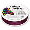 Wire, Zebra Wire™, color-coated copper, magenta, round, 24 gauge. Sold per 1/4 pound spool, approximately 71 yards.