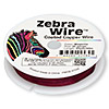 Wire, Zebra Wire™, color-coated copper, magenta, round, 30 gauge. Sold per 50-yard spool.