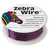 Wire, Zebra Wire™, color-coated copper, purple, round, 22 gauge. Sold per 1/4 pound spool, approximately 45 yards.