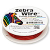Wire, Zebra Wire™, color-coated copper, red, round, 26 gauge. Sold per 30-yard spool.