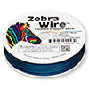 Wire, Zebra Wire™, color-coated copper, sapphire blue, round, 26 gauge. Sold per 1/4 pound spool, approximately 115 yards.