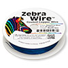 Wire, Zebra Wire™, color-coated copper, sapphire blue, round, 28 gauge. Sold per 40-yard spool.