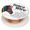 Wire, Zebra Wire™, natural copper, round, 22 gauge. Sold per 15-yard spool.