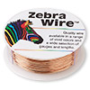Wire, Zebra Wire™, natural copper, round, 24 gauge. Sold per 1/4 pound spool, approximately 71 yards.