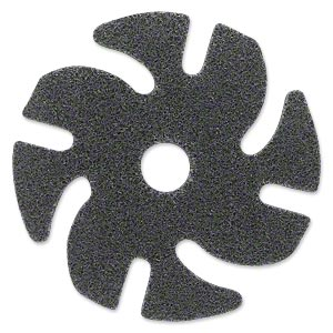 abrasive disc, 3m™ scotch-brite™ exl unitized, plastic, brown, fine grit, 3-inch replacement disc for jooltool™. sold individually.