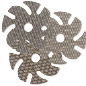 abrasive disc, ninja™ 3m™ flexible diamond grinding, plastic, brown, 60-220 grit, 3-inch replacement abrasive disc for jooltool™. sold per pkg of 3.