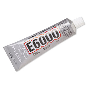 adhesive, e6000 jewelry and craft adhesive, clear. sold per pkg of (6) 1-fluid ounce tubes.