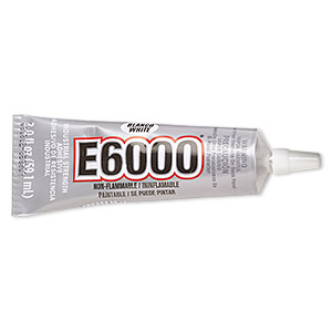 adhesive, e6000 jewelry and craft adhesive, white. sold per 2-fluid ounce tube.