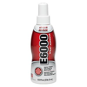 adhesive, e6000 spray adhesive. sold per 8-fluid ounce bottle.