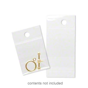 bag, clean-vu, plastic, clear, 1-1/2 x 1-1/2 inches with hole. sold per pkg of 100.
