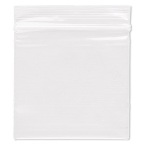 bag, tite-lip™, oxo-biodegradable plastic, clear, 2x2-inch top zip. sold per pkg of 1,000.