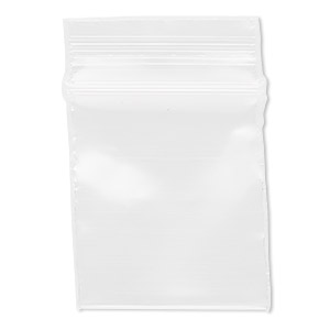 bag, tite-lip™, plastic, clear, 1x1-inch top zip. sold per pkg of 1,000.