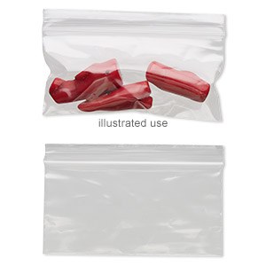 bag, tite-lip™, plastic, clear, 4x2-inch side zip. sold per pkg of 1,000.