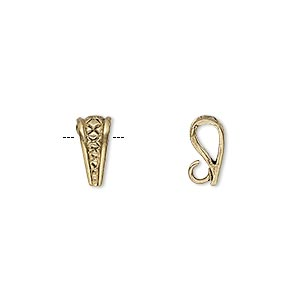 bail, pendant, antiqued brass, 10x4mm triangle with thatched design and hidden loop. sold per pkg of 2.