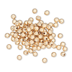 bead, 12kt gold-filled, 3mm smooth faceted round. sold per pkg of 20.
