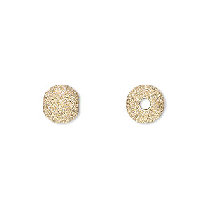 bead, 14kt gold-filled, 8mm stardust round. sold per pkg of 2.