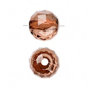bead, acrylic, rust, 15mm faceted round. sold per 100-gram pkg, approximately 50 beads.
