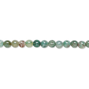 bead, african jade (natural), 4mm round, b grade, mohs hardness 7. sold per 16-inch strand.