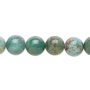 bead, african jade (natural), light to medium, 10mm round, b grade, mohs hardness 7. sold per 16-inch strand.