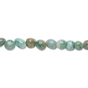 bead, african jade (natural), small pebble, mohs hardness 7. sold per 16-inch strand.