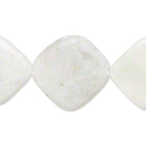 bead, amazonite (natural), 20x20mm-25x25mm rounded flat diamond, d grade, mohs hardness 6 to 6-1/2. sold per 15-inch strand.