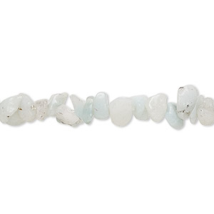 bead, amazonite (natural), medium chip, mohs hardness of 6 to 6-1/2. sold per 36-inch strand.