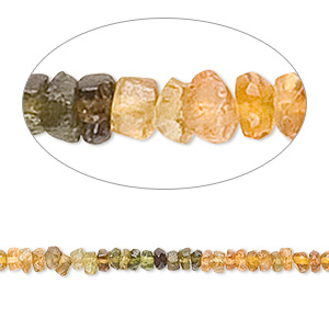 bead, amber-green tourmaline (natural), shaded, 3x1mm-4x2mm hand-cut faceted rondelle, c grade, mohs hardness 7. sold per 13-inch strand.