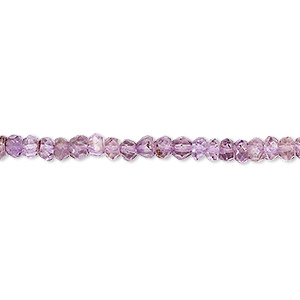 bead, amethyst (coated), 3x2mm-4x3mm hand-cut faceted rondelle, b grade, mohs hardness 7. sold per 13-inch strand.