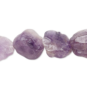 bead, amethyst (natural), 18x8mm-20x10mm hand-knapped flat round, c grade, mohs hardness 7. sold per 16-inch strand.