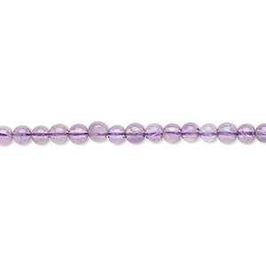 bead, amethyst (natural), medium to dark, 3mm round, b grade, mohs hardness 7. sold per 16-inch strand.