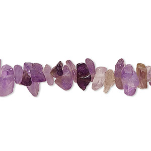 bead, amethyst (natural), small chip, mohs hardness 7. sold per 36-inch strand.