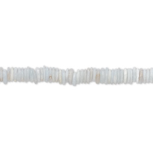 bead, angelite (natural), 4x1mm-6x2mm hand-cut rondelle with 0.4-1.4mm hole, b grade, mohs hardness 3 to 3-1/2. sold per 8-inch strand, approximately 150-170 beads.