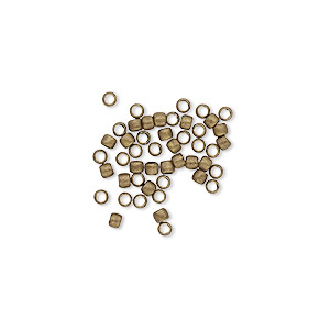bead, antique gold-plated brass, 2mm micro round. sold per pkg of 100.