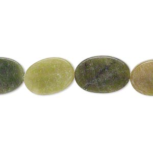 bead, antique new jade (dyed), 15x10mm-16x11mm flat oval, c- grade, mohs hardness 2-1/2 to 6. sold per 15-inch strand.