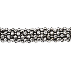 bead, antique silver-plated copper, 9x2mm star. sold per 1-troy ounce pkg, approximately 50-60 beads.