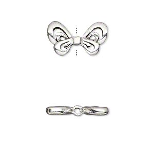 bead, antique silver-plated pewter (tin-based alloy), 18x10mm open wings, 1.5mm hole. sold per pkg of 2.