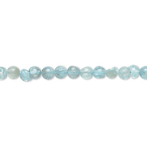 bead, apatite (natural), 3-5mm hand-cut round, c grade, mohs hardness 5. sold per 13-inch strand.