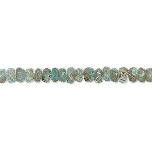 bead, apatite (natural), 4x2mm-5x3mm hand-cut faceted rondelle, c- grade, mohs hardness 5. sold per 13-inch strand.