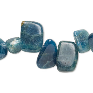 bead, apatite (natural), top-drilled medium chip, mohs hardness 5. sold per 16-inch strand.