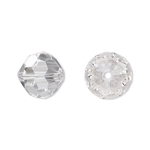 bead, asfour crystal, crystal, crystal clear, 14mm faceted round. sold per pkg of 60.